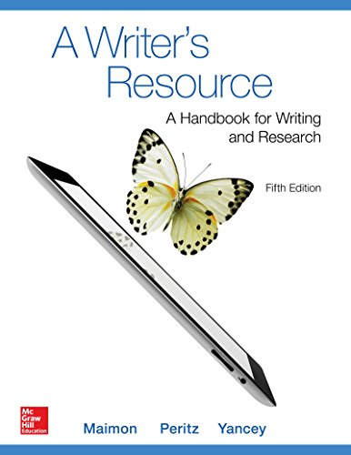 9780078036187: A Writer's Resource (comb-version) Student Edition