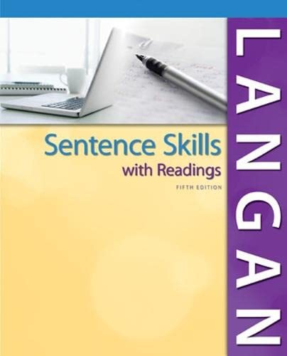 Sentence Skills With Readings (0078036291) by Langan, John
