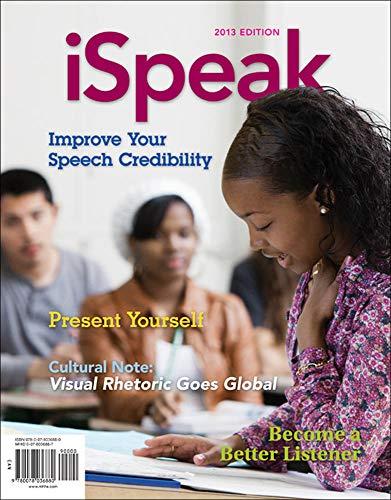 9780078036880: iSpeak: Public Speaking for Contemporary Life