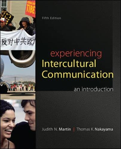 9780078036927: Experiencing Intercultural Communication: An Introduction