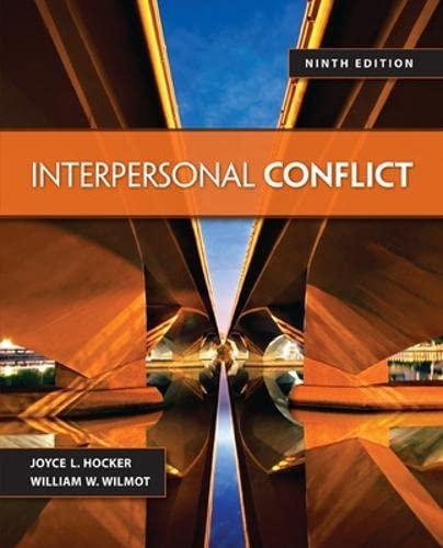 Interpersonal Conflict: Wilmot Professor, William
