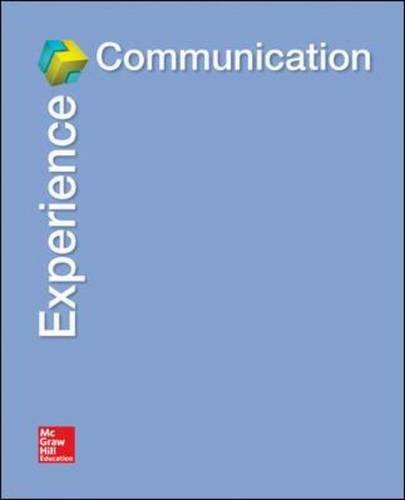9780078037009: Experience Communication