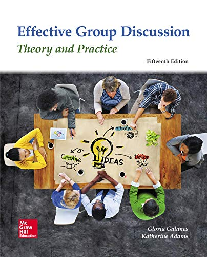 9780078037016: Effective Group Discussion: Theory and Practice
