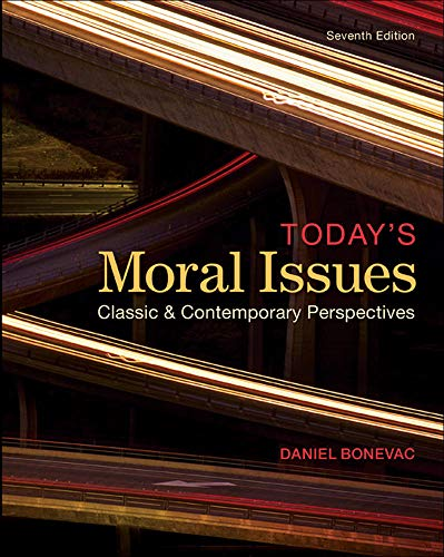 9780078038211: Today's Moral Issues: Classic and Contemporary Perspectives