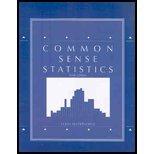 9780078038747: Common Sense Statistics