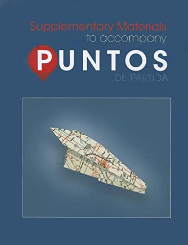 9780078040009: Puntos de Partida: Supplementary Materials to Accompany