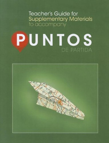 9780078040016: Teachers Guide T/A Supplementary Materials T/A Puntos de Partida