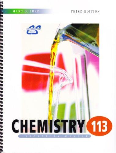 9780078041051: Chemistry 113, Laboratory Manual, Third Edition, Columbus State Community College