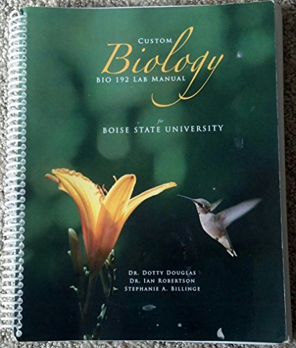 9780078042133: Custom Biology Bio 192 Lab Manual for Boise State University