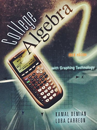 9780078042539: College Algebra (College Algebra with Graphing Technology)