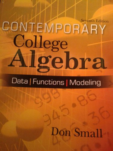 9780078044014: CONTEMPORARY COLLEGE ALGEBRA >