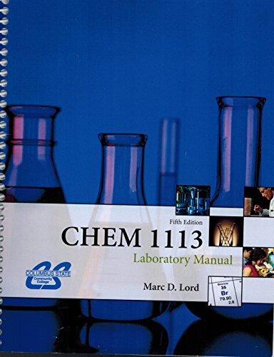 9780078045509: CHEM 1113 Laboratory Manual, 5th edition, Columbus State Community College