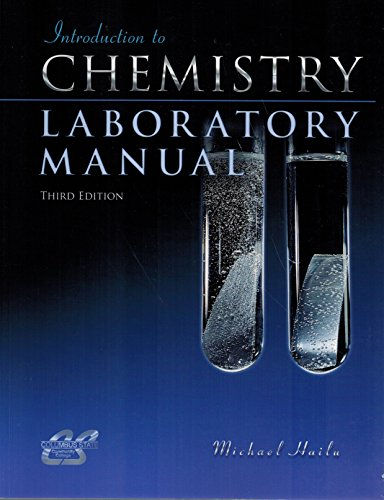 9780078045646: Introduction to Chemistry Laboratory Manual, Columbus State Community College