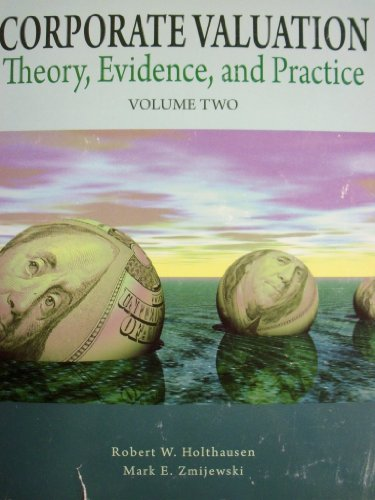 9780078047121: Corporate Valuation: Theory, Evidence, and Practice Vol. 2 (UPENN)