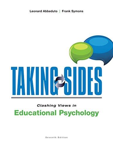 Taking Sides: Clashing Views in Educational Psychology: Abbeduto, Leonard; Symons,
