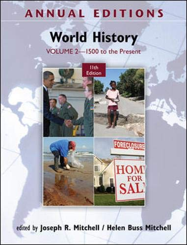 9780078050978: Annual Editions: World History, Volume 2: 1500 to the Present