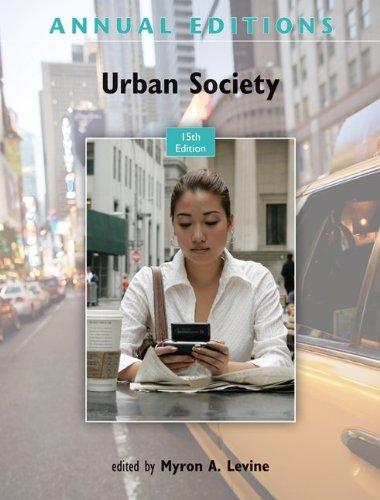 9780078050985: Annual Editions: Urban Society