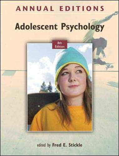 9780078050992: Annual Editions: Adolescent Psychology, 8/e