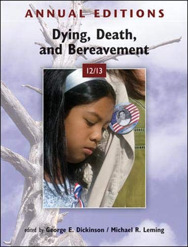 9780078051050: Annual Editions: Dying, Death, and Bereavement 12/13