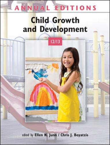 9780078051074: Annual Editions: Child Growth and Development 12/13