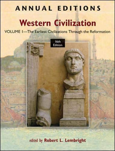 9780078051104: Annual Editions: Western Civilization, Volume 1: The Earliest Civilizations through the Reformation