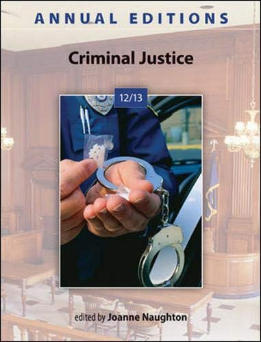 9780078051272: Annual Editions: Criminal Justice 12/13