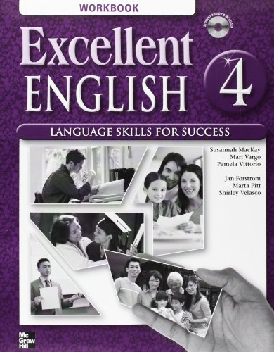 9780078052101: Excellent English Level 4 Workbook with Audio CD: Language Skills For Success