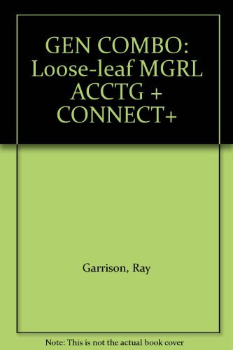 9780078083723: GEN COMBO: Loose-leaf MGRL ACCTG + CONNECT+