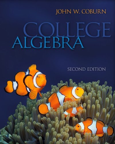 9780078088100: Combo: College Algebra with Student Solutions Manual