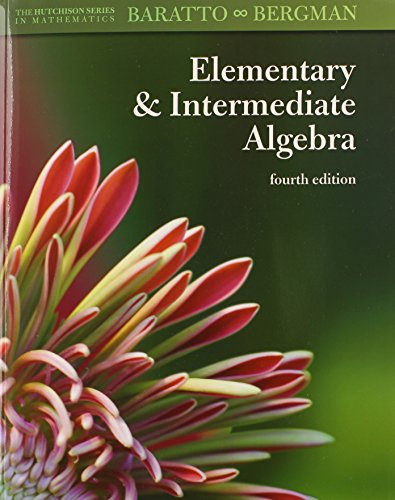 9780078092510: Combo: Hutchison's Elementary and Intermediate Algebra with MathZone Access Card