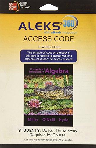 9780078094101: ALEKS 360 Access Card (11 weeks) for Prealgebra & Introductory Algebra