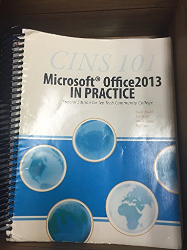 9780078095320: Microsoft Office 2013 in Practice for class CINS 101