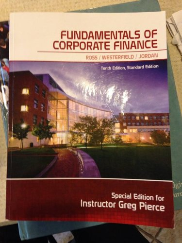 9780078096464: Fundamentals of Corporate Finance (Special Edition Penn State)