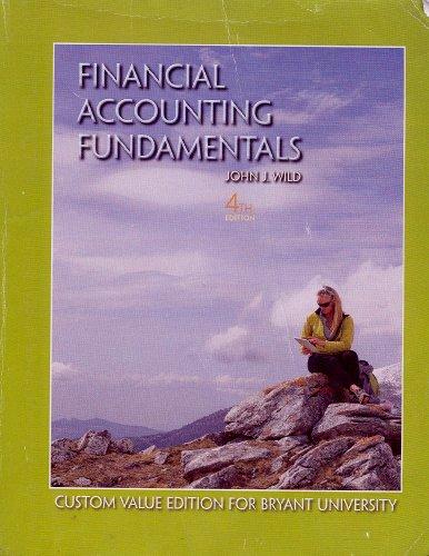 9780078096495: Financial Accounting Fundamentals 4th Edition Bryant University