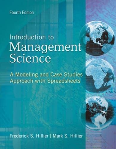 9780078096600: Introduction to Management Science: A Modeling and Case Studies Approach With Spreadsheets