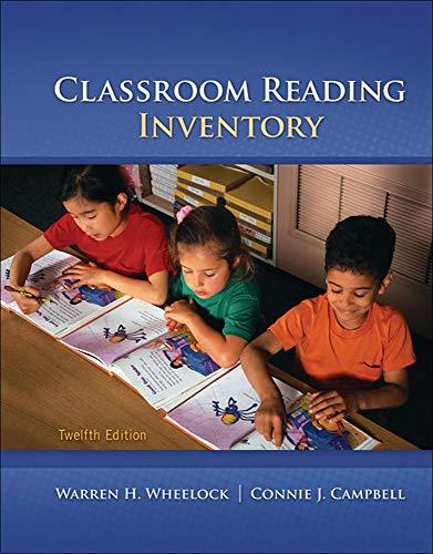 9780078110252: Classroom Reading Inventory