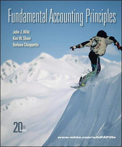9780078110870: Fundamental Accounting Principles, 20th Edition