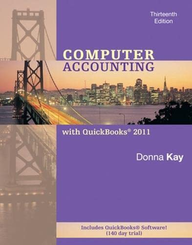 9780078110979: Computer Accounting With Quickbooks Pro 2011