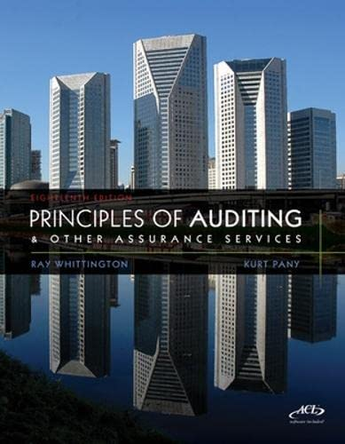 9780078111037: Principles of Auditing and Other Assurance Services