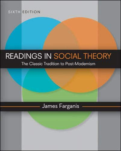 9780078111556: Readings in Social Theory