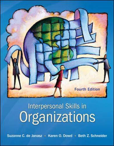 9780078112560: Interpersonal Skills in Organizations