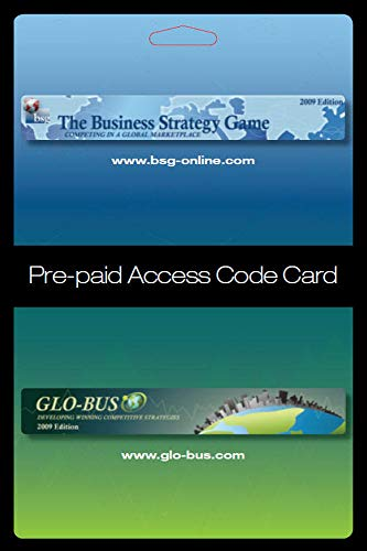 9780078112706: Business Strategy Game (BSG) Glo-Bus Pre-paid Access Code Card