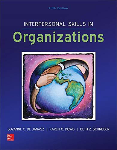 9780078112805: Interpersonal Skills in Organizations