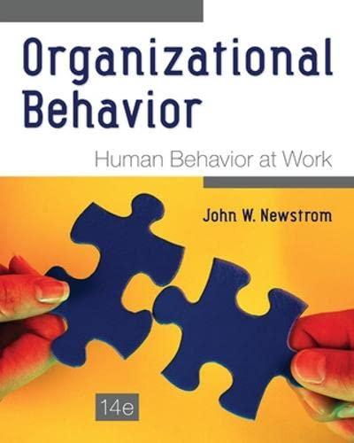 9780078112829: Organizational Behavior: Human Behavior at Work