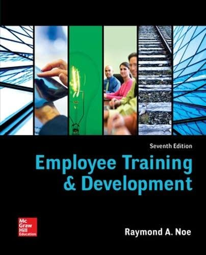 9780078112850: Employee Training & Development