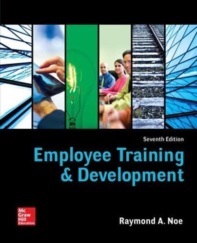 9780078112850: Employee Training & Development (Irwin Management)