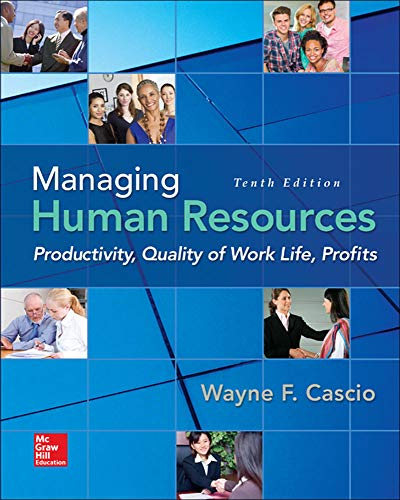 9780078112959: Managing Human Resources: Productivity, Quality of Work Life, Profits