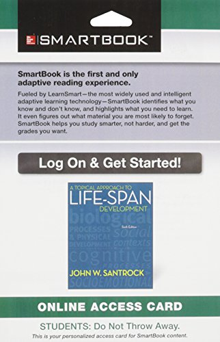 9780078115455: SmartBook Access Card for A Topical Approach to Life-Span Development