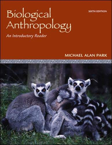 9780078116964: Biological Anthropology: An Introductory Reader
