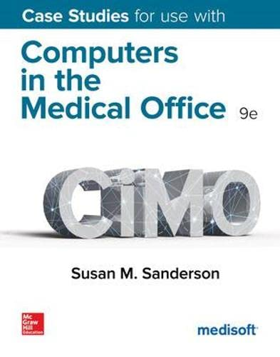 9780078117596: Case Studies for use with Computers in the Medical Office